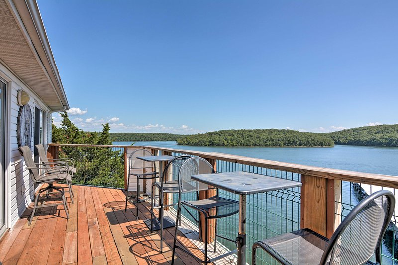 This Kaiser condo is in Lake of the Ozarks State Park, offering great views.