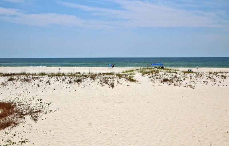Uitzicht op de Golf vanaf het hoofdbalkon
