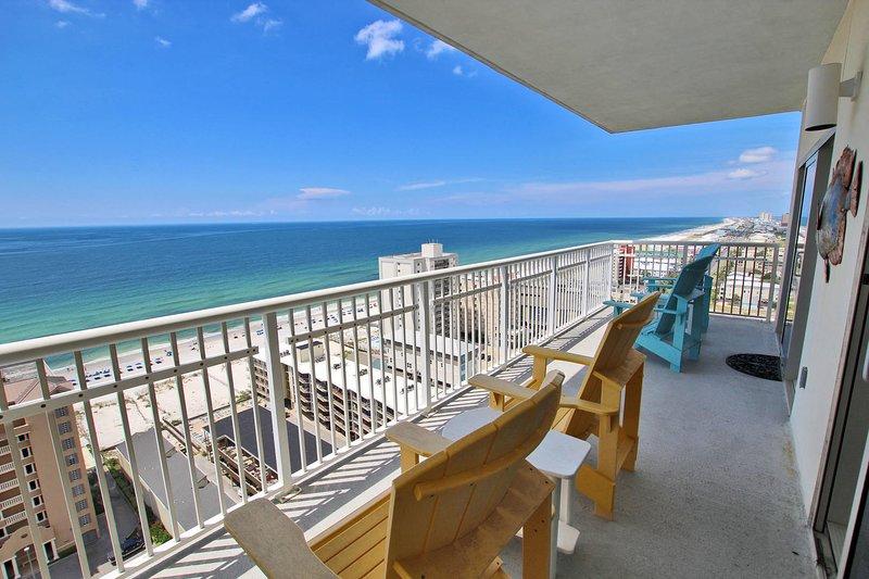18th Floor Gulf View Corner Balcony
