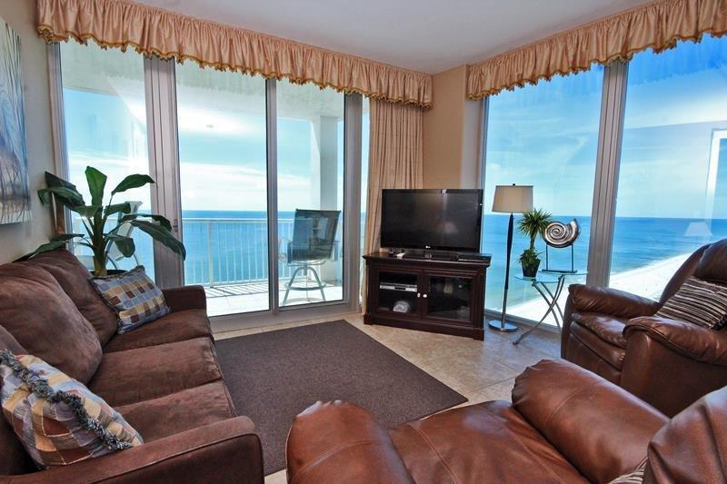 Gulf View Corner Living Room