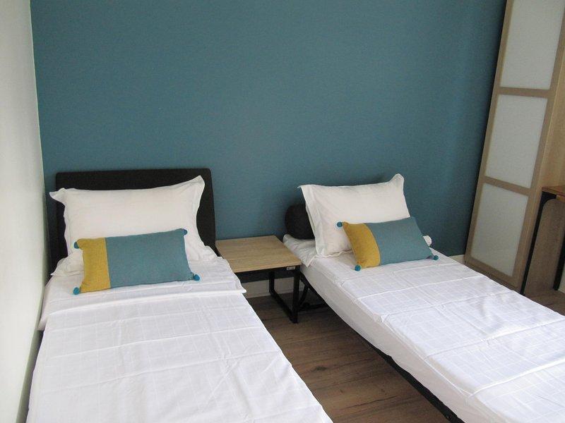 """Habitación privada """"Côté Jardin"""" convertida en habitación doble (2 camas)"""
