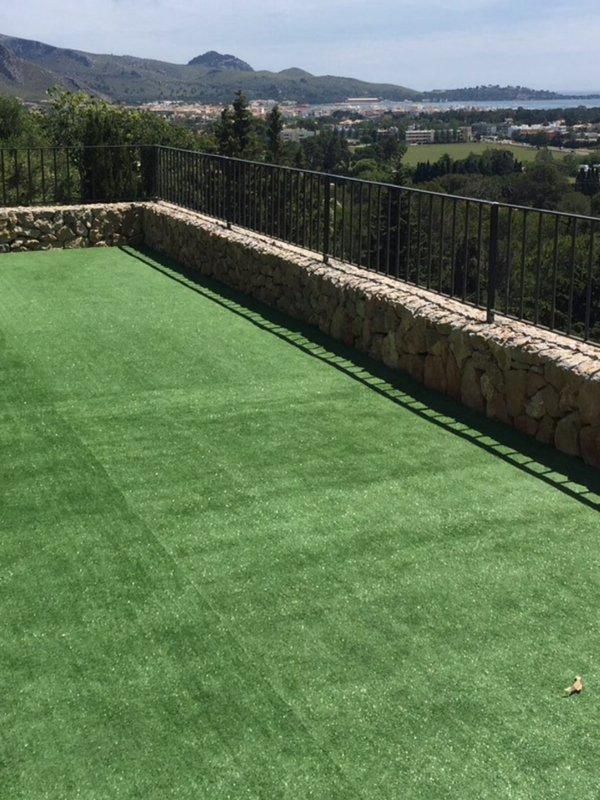Terraço gramado espectacular