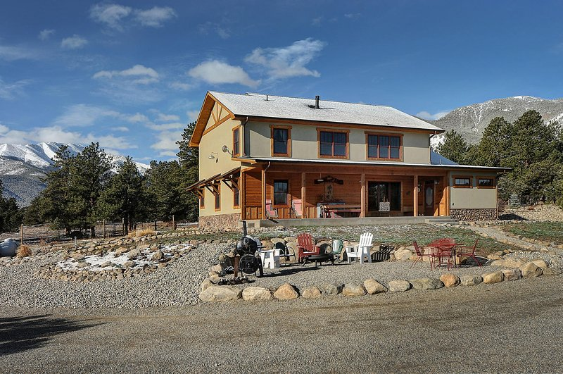 This beautiful 3200 sq ft home is set at the base of the Collegiate Peaks Mountain Range.