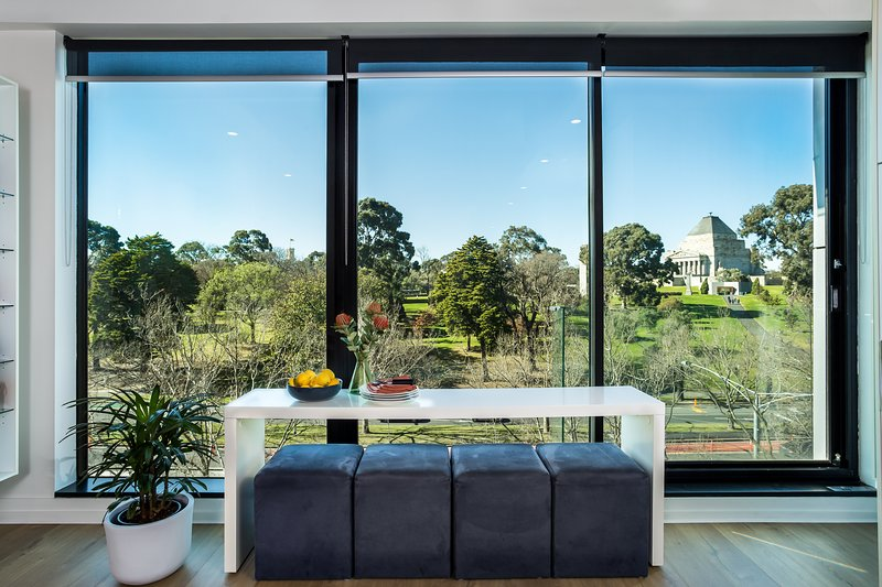 Van vloer tot plafond ramen om het uitzicht te maximaliseren