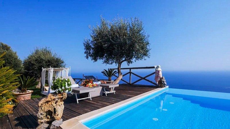Luxury villa Fortino, vacation rental in Fiordo di Furore