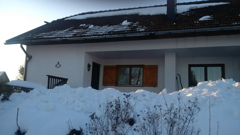 Entree appartement in de winter