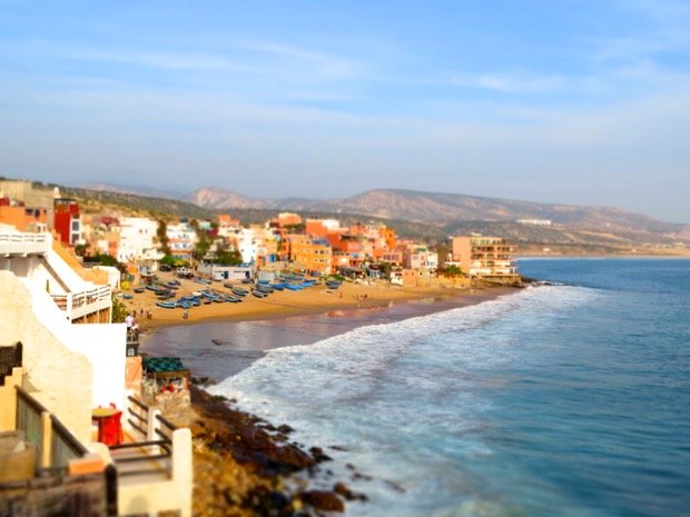 village taghazout the heart of morocco for tourism holiday surfing relaxing .