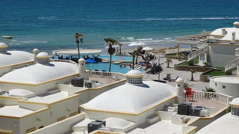 View of new beach pool