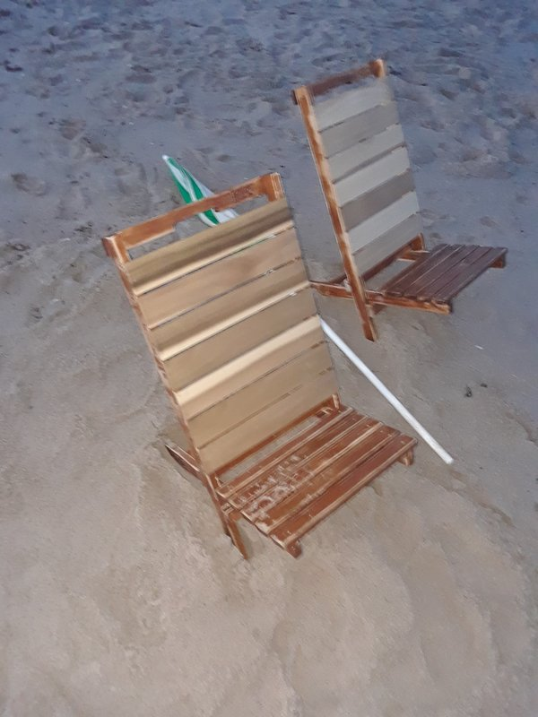 My homemade beach chairs