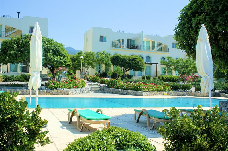Gorgeous sumptuous gardens and lovely big pool with sunbeds for free use by guests.
