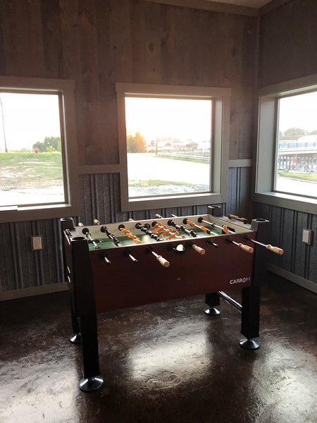 Our foosball table made right here in Ludington at Carrom Company!