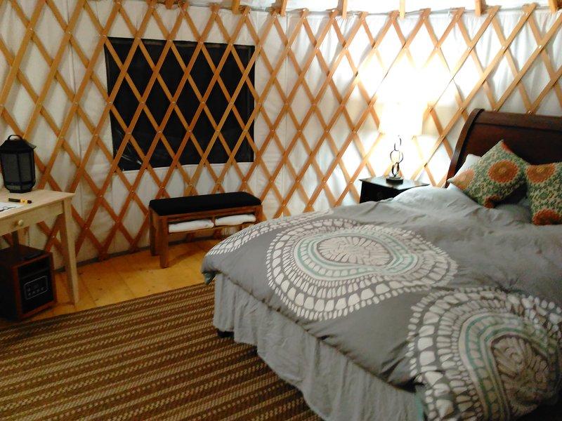 Inside the Osprey yurt