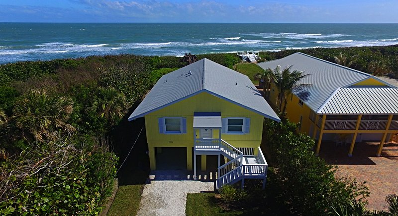 Over view of the homes location, on a small barrier island!
