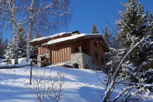 Chalet Chamois, lovely alpine chalet on the piste, hot tub with amazing views, holiday rental in Les Coches