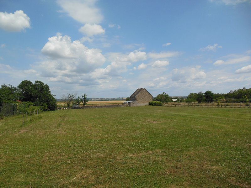 View from rear of gite to quiet countryside