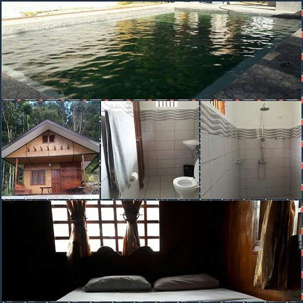 Cottage with XL private bathroom and direct access to the pool.