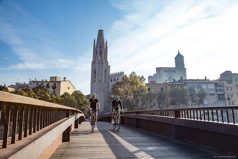 Cykelturism i Girona.