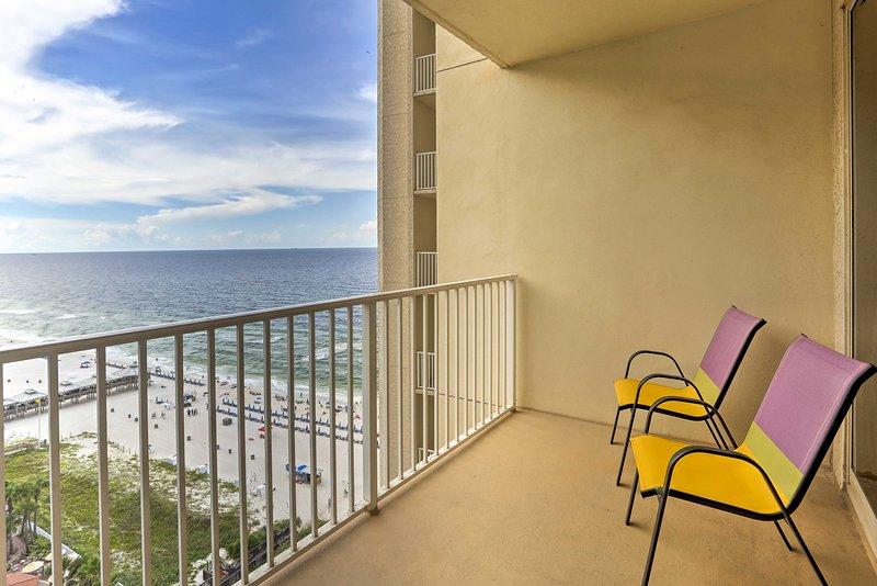Fantastic views await at this 15th-floor vacation rental studio.