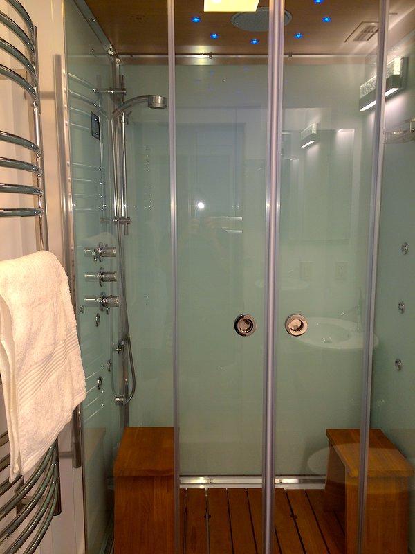 Steam shower for 2