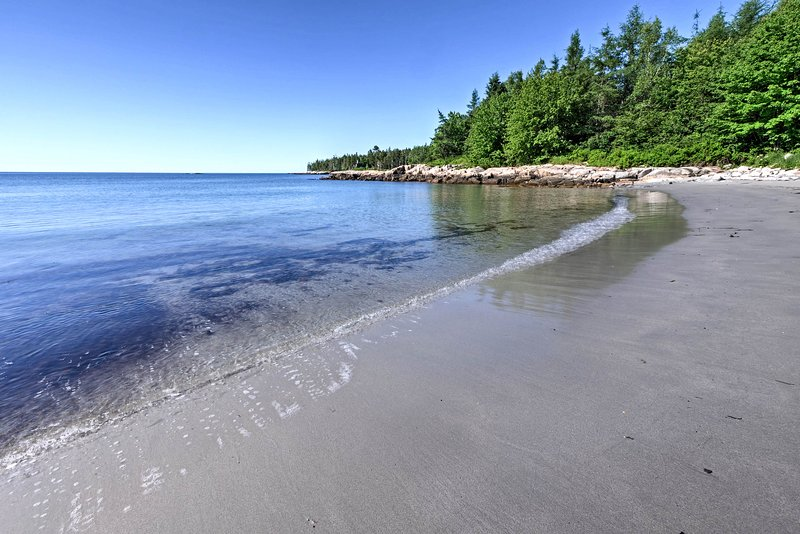 A private beach on Sands Cove lies just a half mile from 'Sea Captain's Home.'