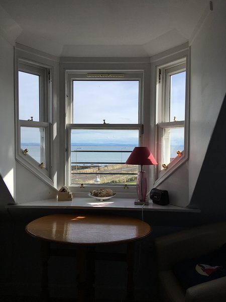 View from window at upstairs seating area