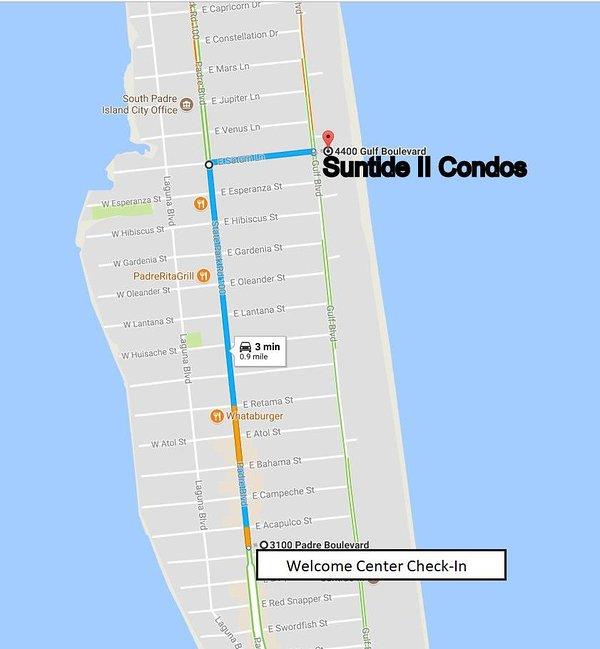 Karta till Suntide II från Welcome Center