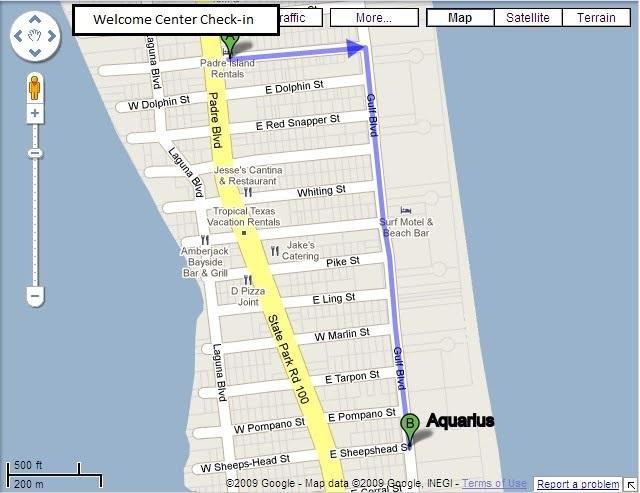 Mappa dal Welcome Center all'Acquario