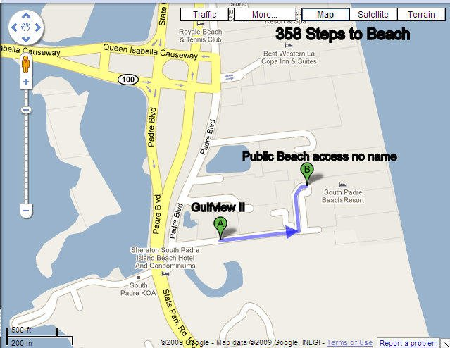 Gulfview II is 358 Steps to Beach Access