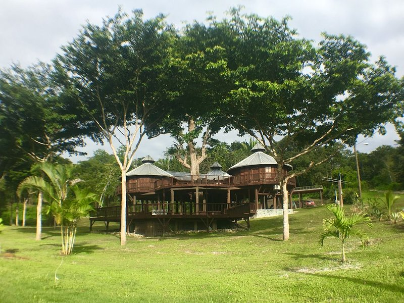 Exotic High End Unique Off-The-Grid Treehouse, steps away from the Mopan River!, holiday rental in San Ignacio