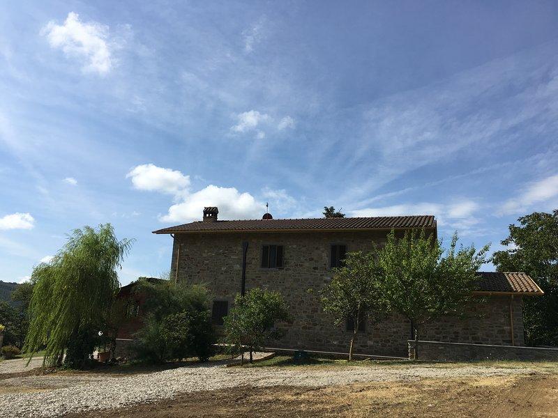 L agriturismo vista sole è situato nel verde tra Toscana e Umbria, holiday rental in Pierle