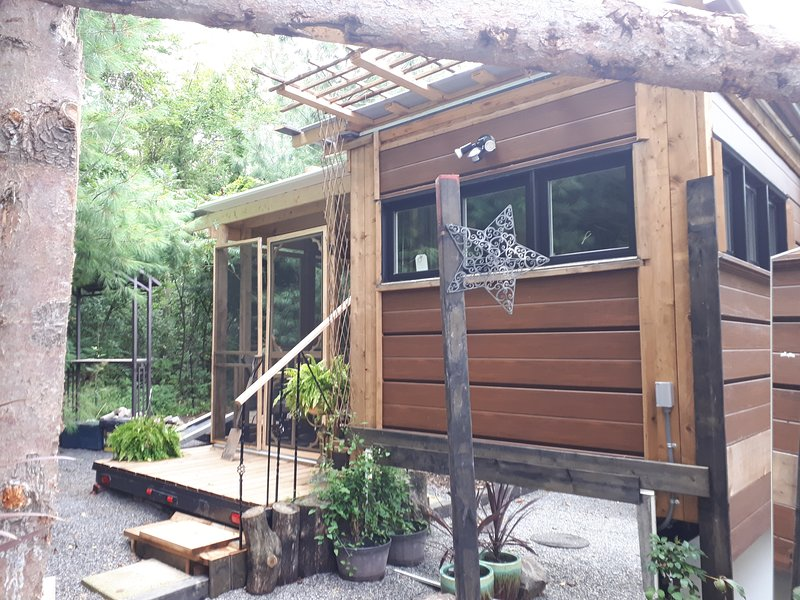 the Twiglet tinyhouse/cottage,400 sq ft of living amongst nature and our small animal sanctuary