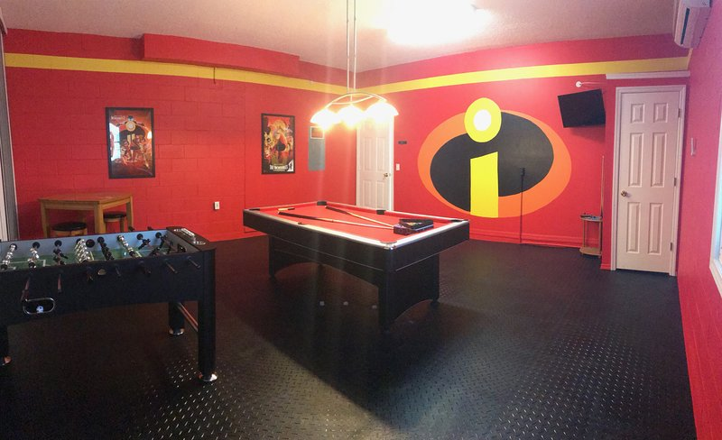Our game room has been re-done and we will think you will find it pretty 'Incredible'!