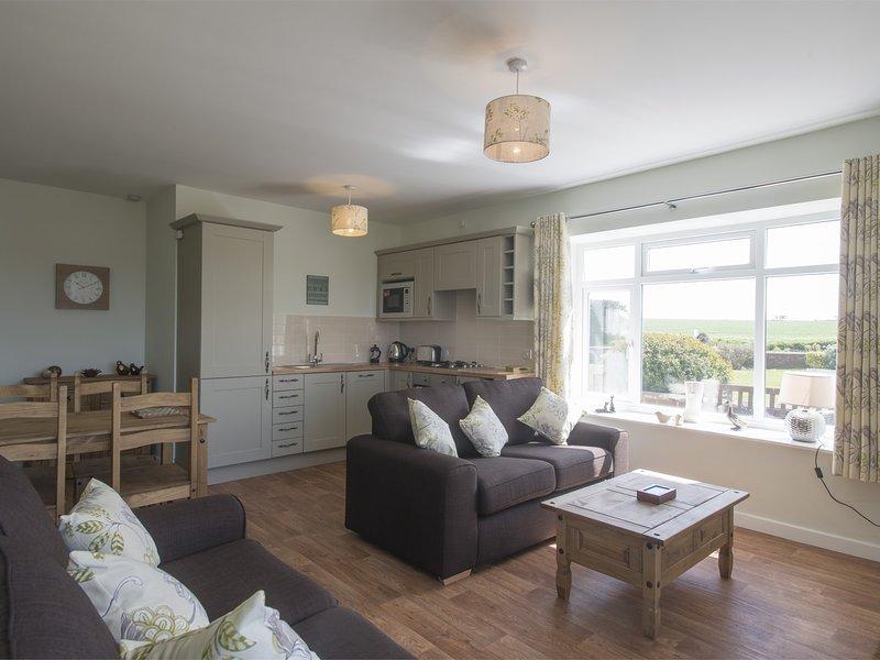 Modern,open-plan living space