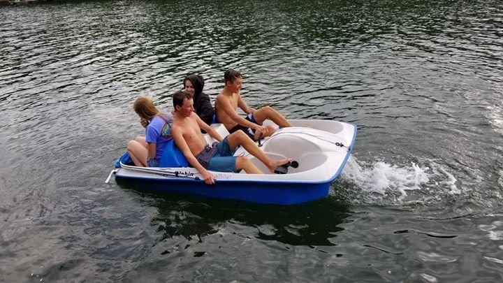 Pedal boat is fun