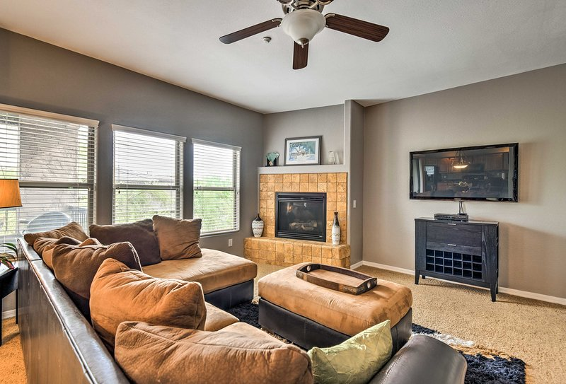 Explore the Sonoran Desert area from this Cave Creek vacation rental condo.