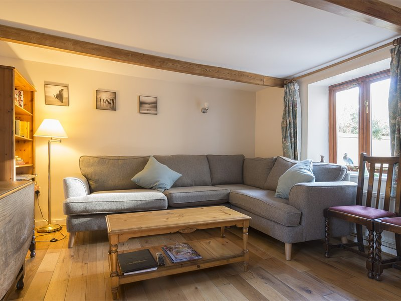 Comfy seating with oak floorboards