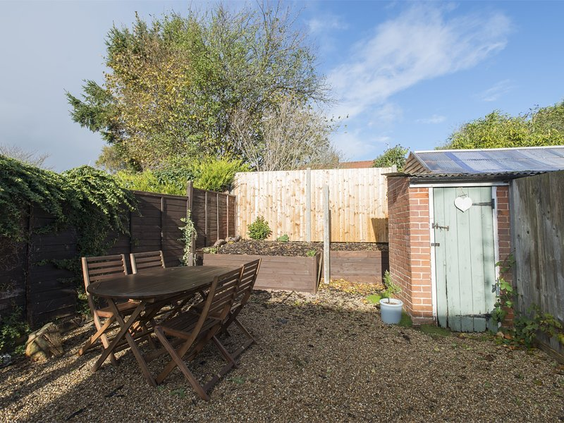 Rear garden with seating and BBQ