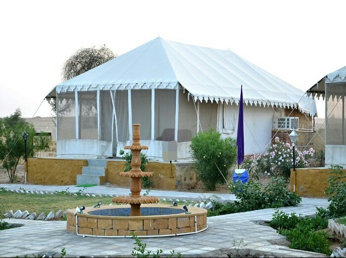 luxury tent with attached toilet and also our camp has swimming pool