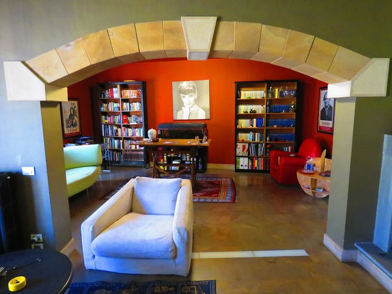 common living room - library