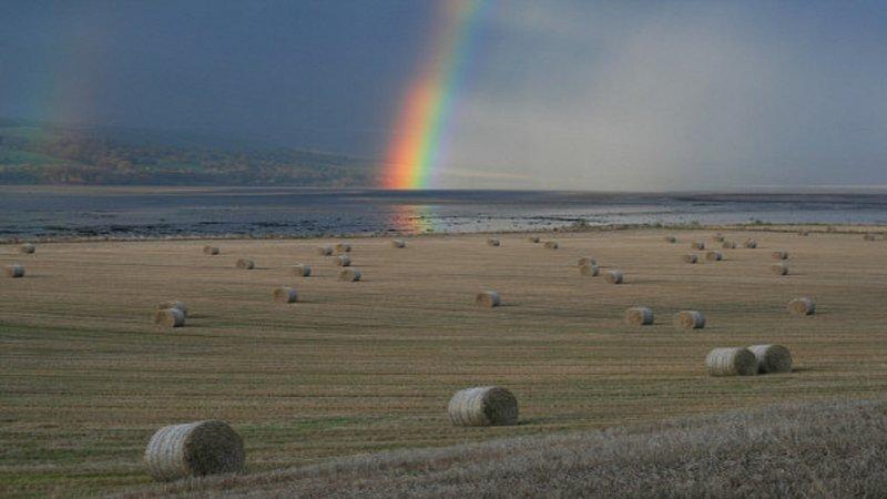 Die Geografie der Region ermöglicht einige der besten Regenbögen in ganz Großbritannien