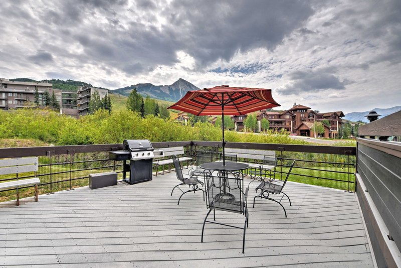 Take advantage of the shared deck with a gas grill and patio furniture!