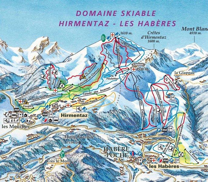 Local ski map