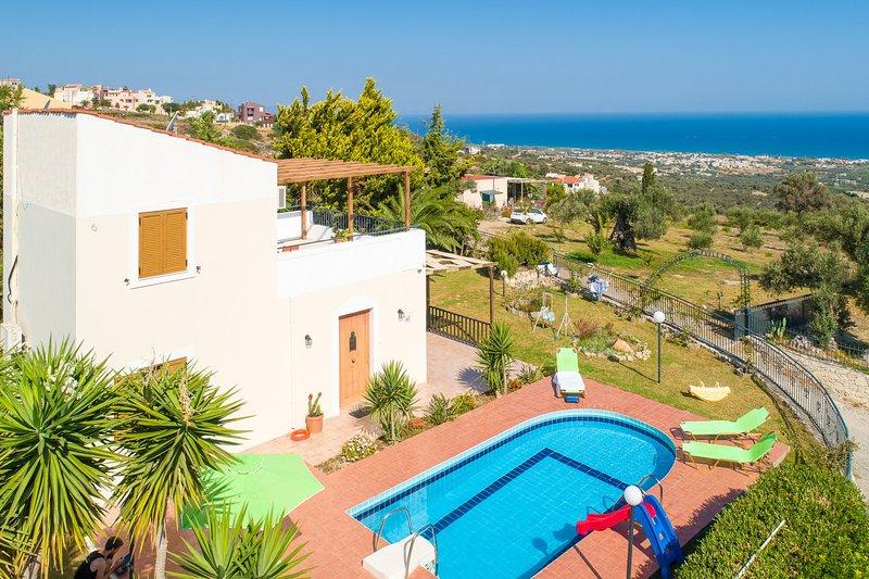 Vista aérea de Villa Michalis