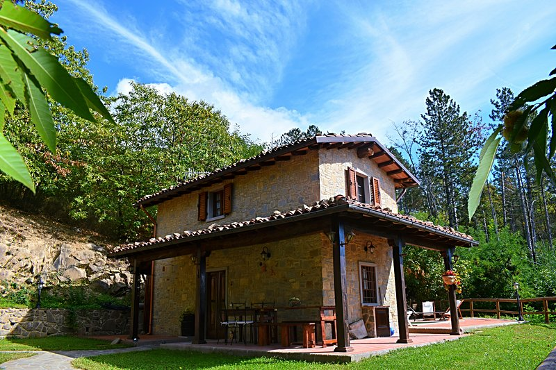 Newly renovated 2 bedroom cottage, private pool, walk to village & restaurants, holiday rental in Castiglione di Garfagnana