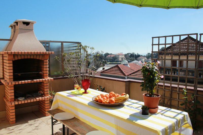 Pretty apartment with roof-top terrace and parking, holiday rental in Avintes