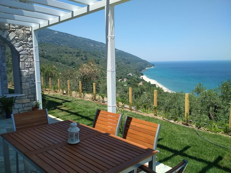 Front terrace of Olive apartment