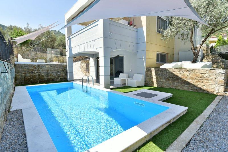 Alpha Delta pool suite, aluguéis de temporada em Symvoli