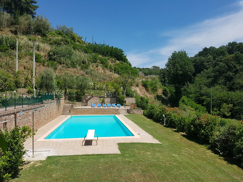 swimming pool and diving board