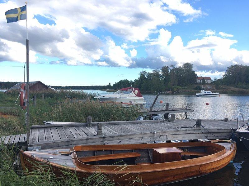 Muelle de madera en Hysingsvik.