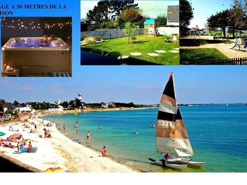 BRETAGNE SUD SEJOUR DETENTE RELAXATION SPA+PLAGE+Douche HAMMAM Maison 1/6Pers+BB, holiday rental in Port-Louis